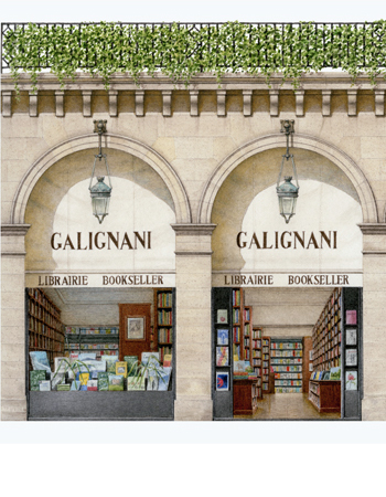 Galignani Booksellers, Paris (detail)