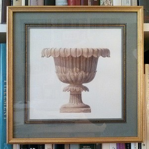 English Terracotta Vase framed