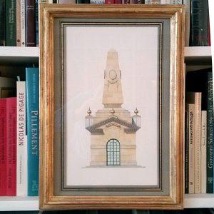 Obelisk Pavilion framed